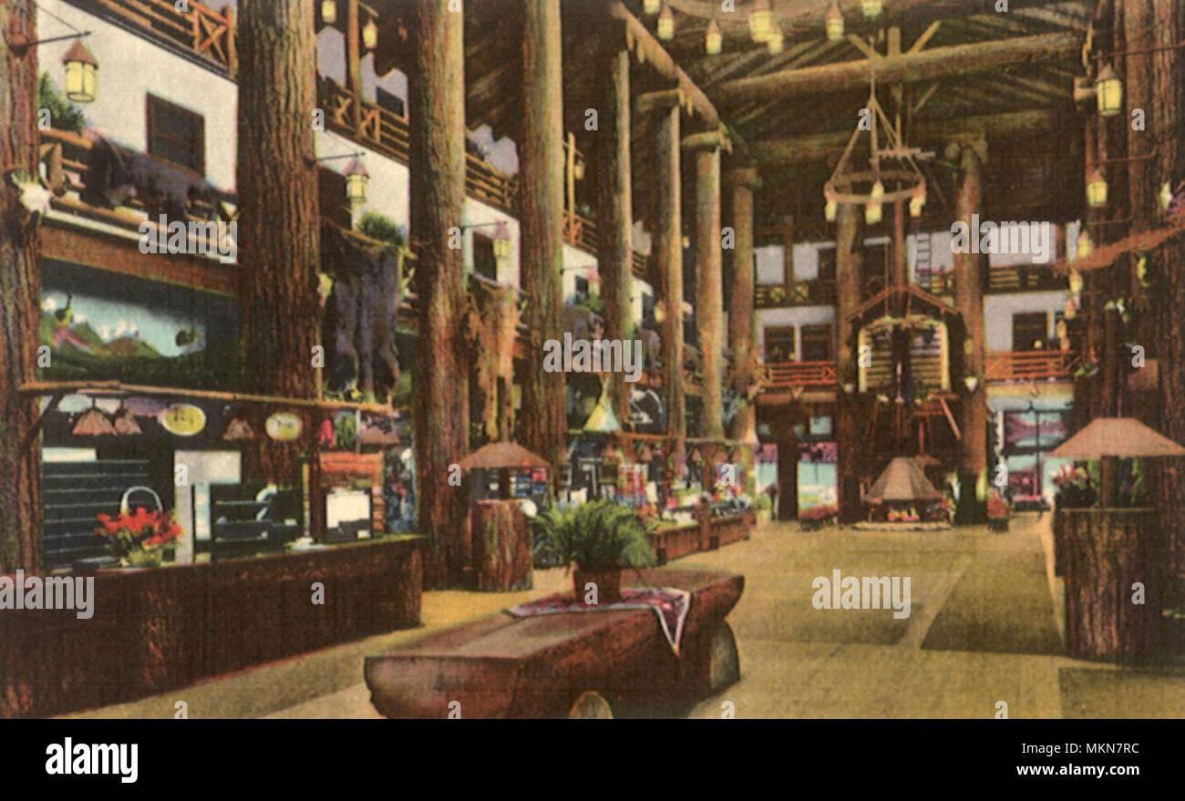 Glacier Pk Hotel Lobby - Stock Image