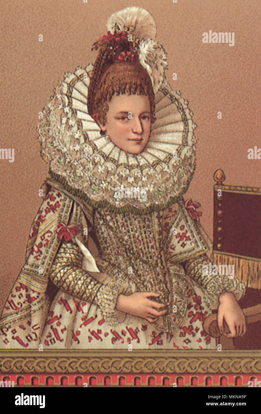 Elizabethan Woman - Stock Image