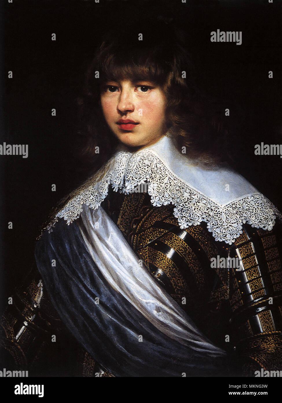 Portrait of Prince Waldemar Christian of Denmark 1622 - Stock Image
