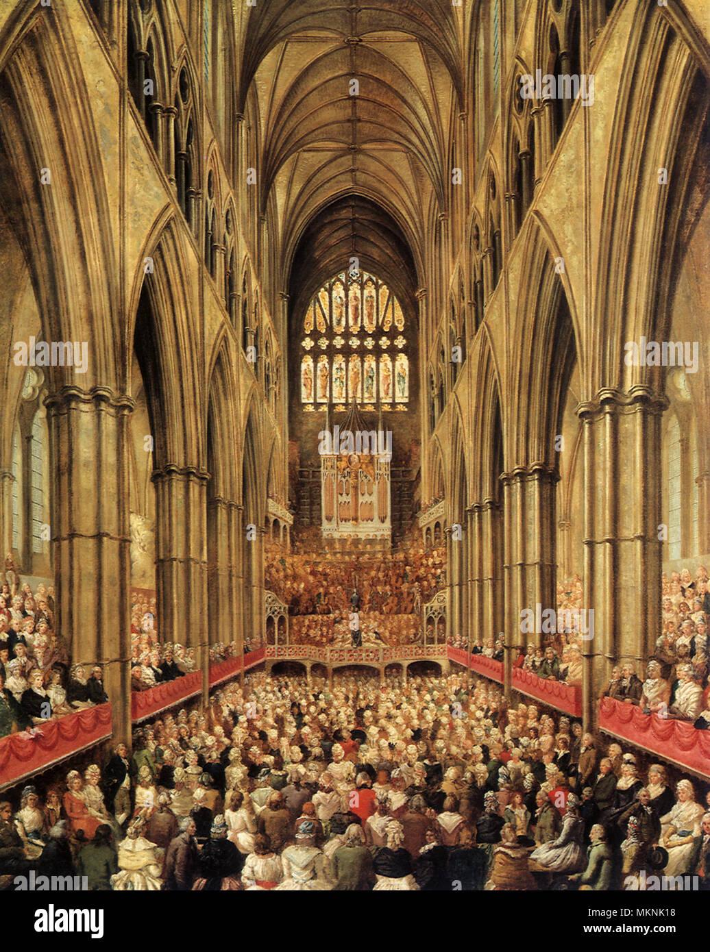 Commemoration of Handel's Centenary - Stock Image