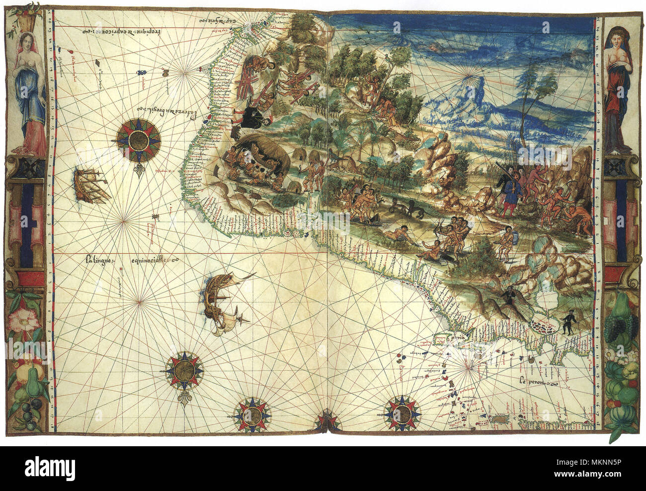 NE South American Map 1547 Stock Photo: 184259762 - Alamy