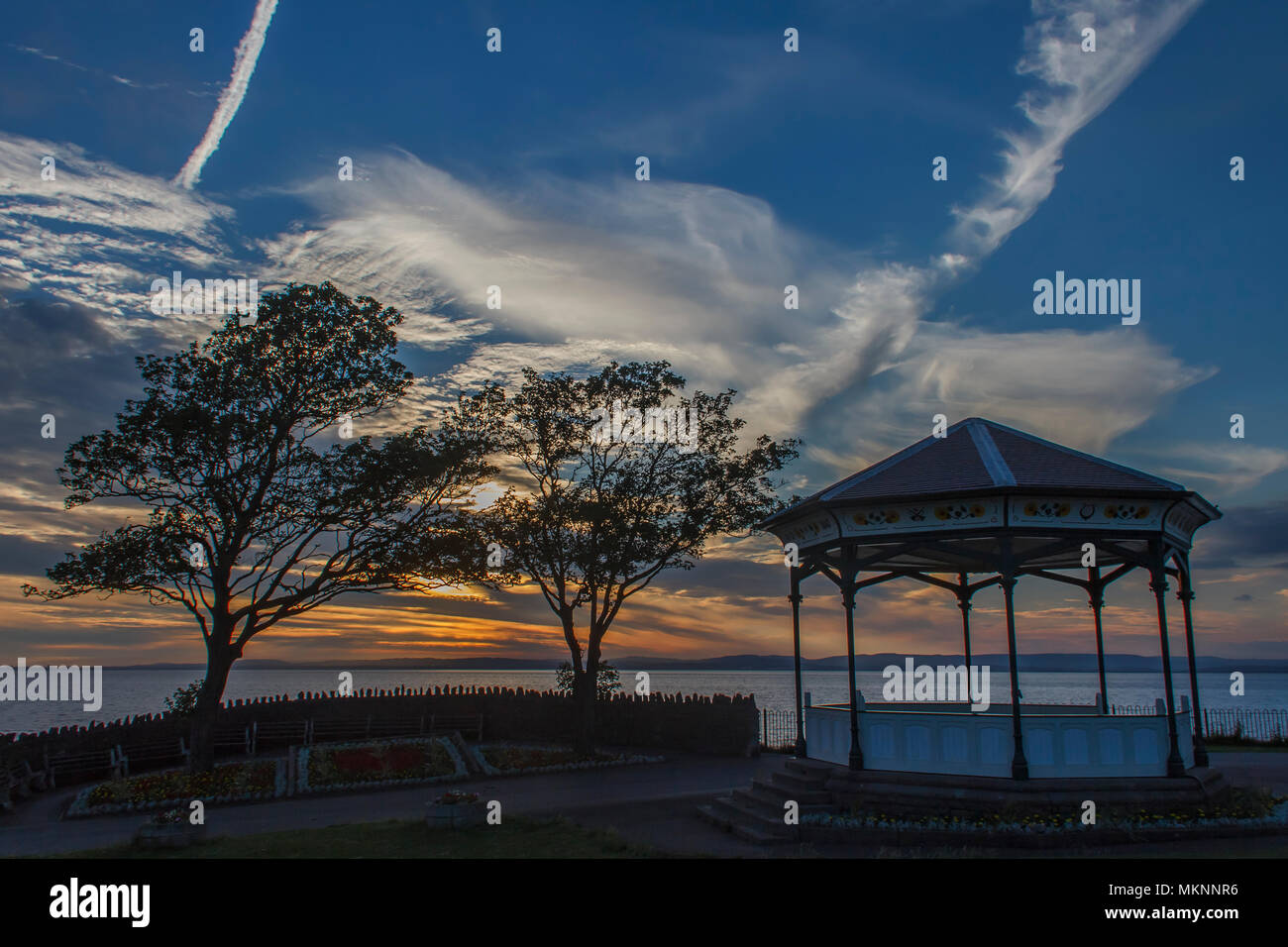 levedon Bandstand at Sunset Stock Photo