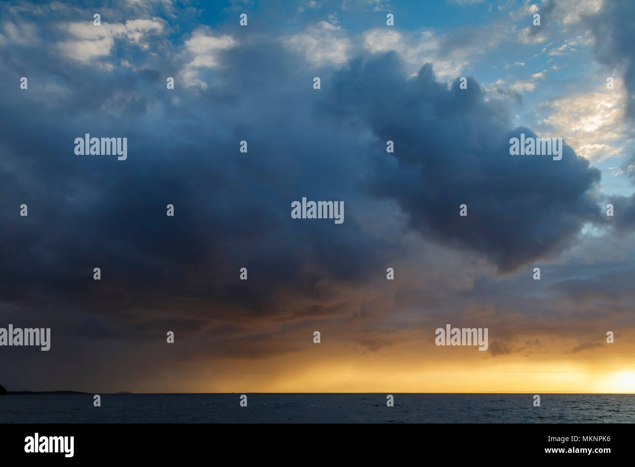 Cloud Formation sunset - Stock Image