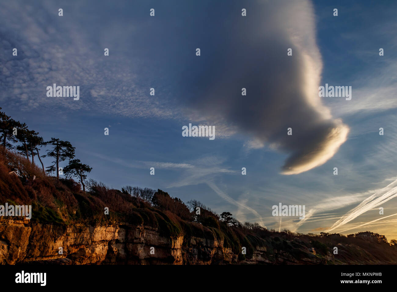 Cloud formation ; shape - Stock Image