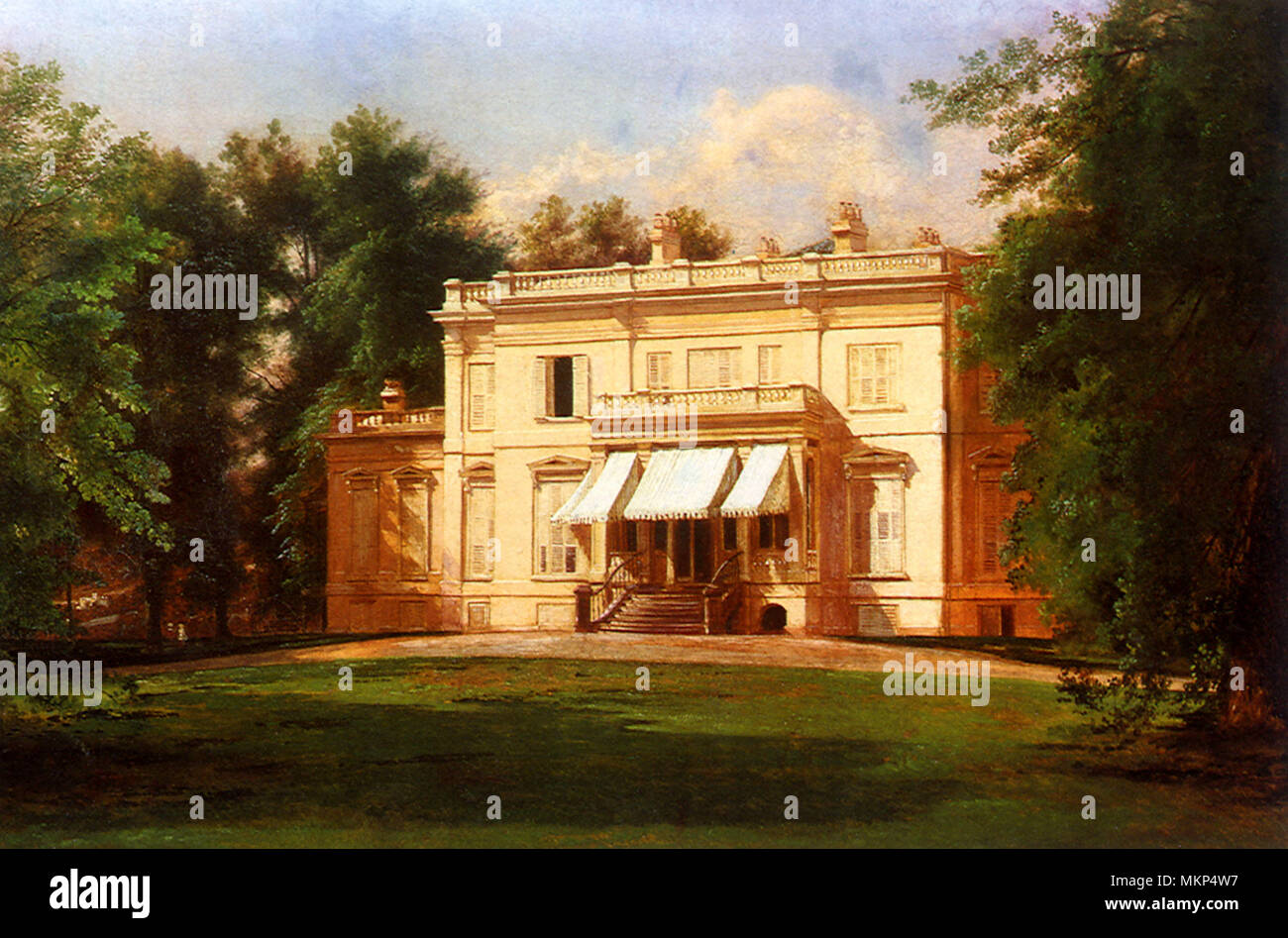 View of the Langdon House - Stock Image