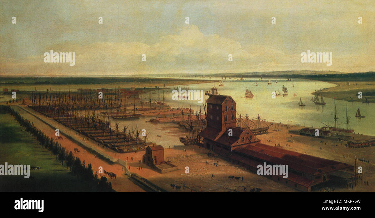 Perry's Dock Blackwall 1803 - Stock Image