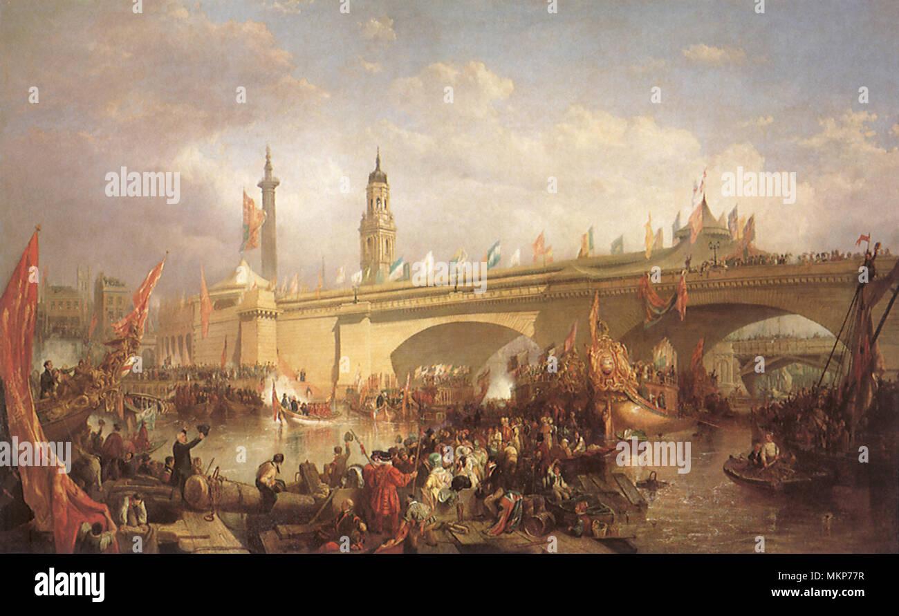 Opening of New London Bridge 1831 - Stock Image