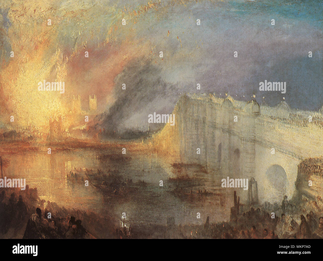 Burning of the House of Lords 1835 - Stock Image
