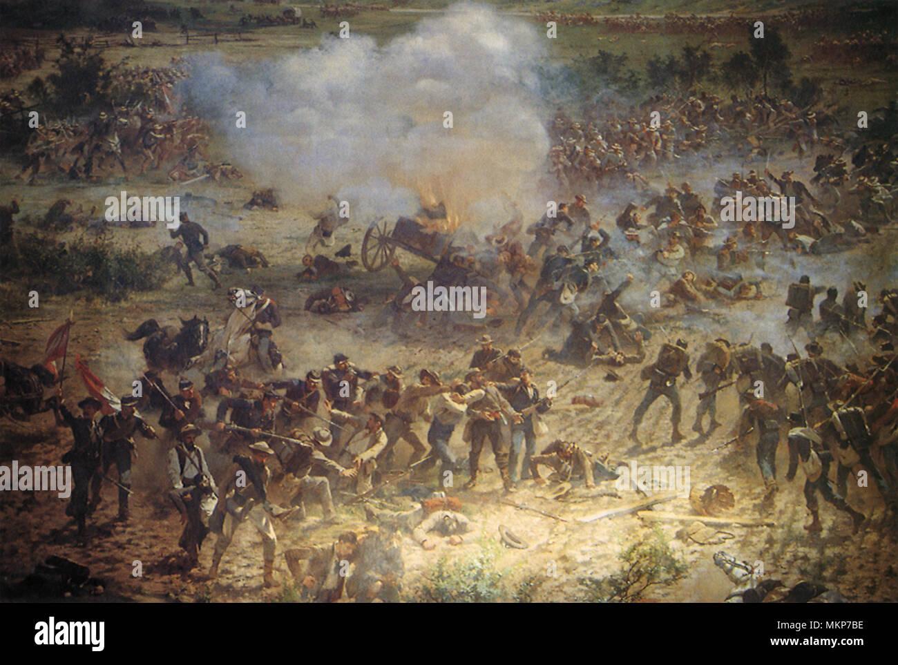Battle Scene at Gettysburg - Stock Image