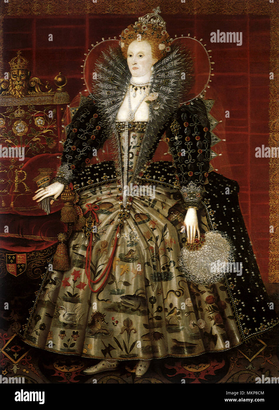 Queen Elizabeth I, the Hardwick Portrait 1599 - Stock Image