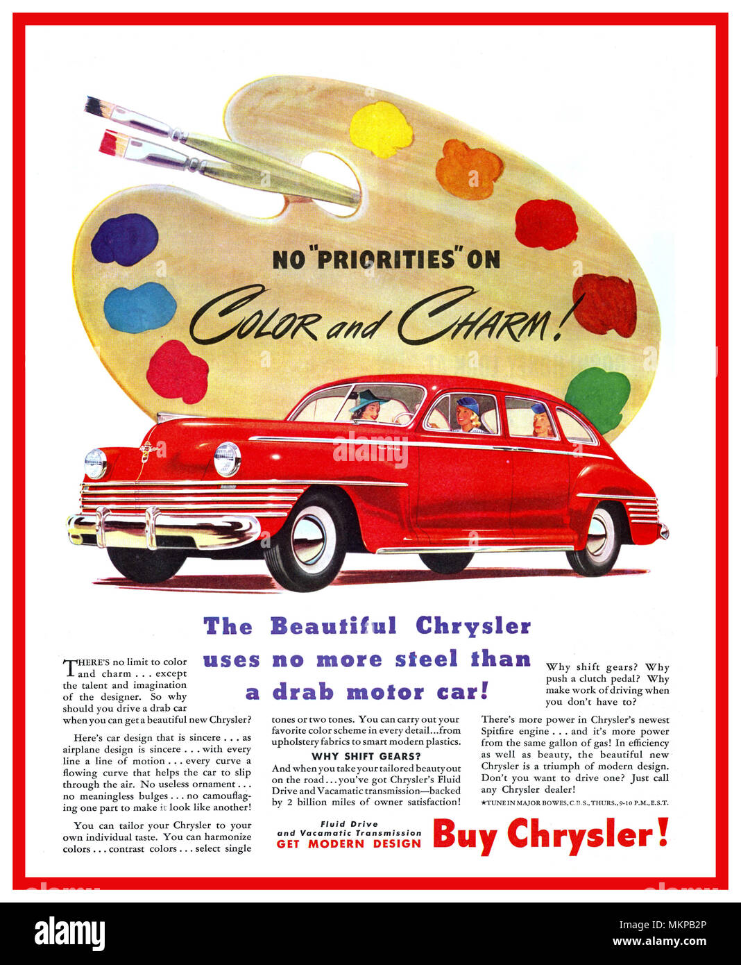 Chrysler New Yorker Stock Photos Images 1942 Convertible 1940s Vintage American Car Manufactured During Ww2 The Sedan No Priorities