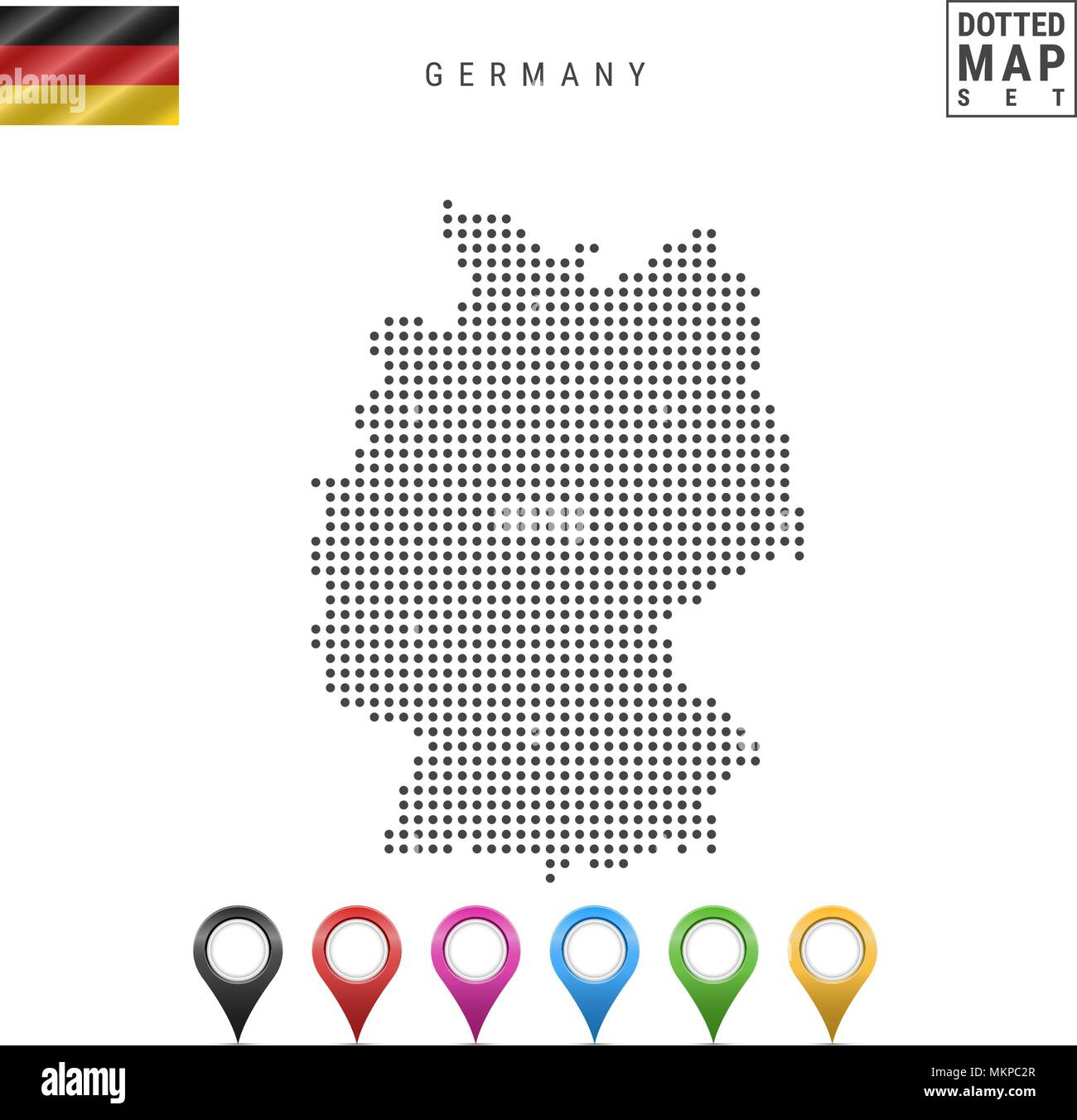 Vector Dotted Map Of Germany Simple Silhouette Of Germany The