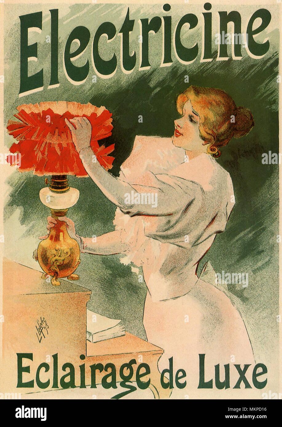 Poster Advertisement for Electric Lamps Stock Photo