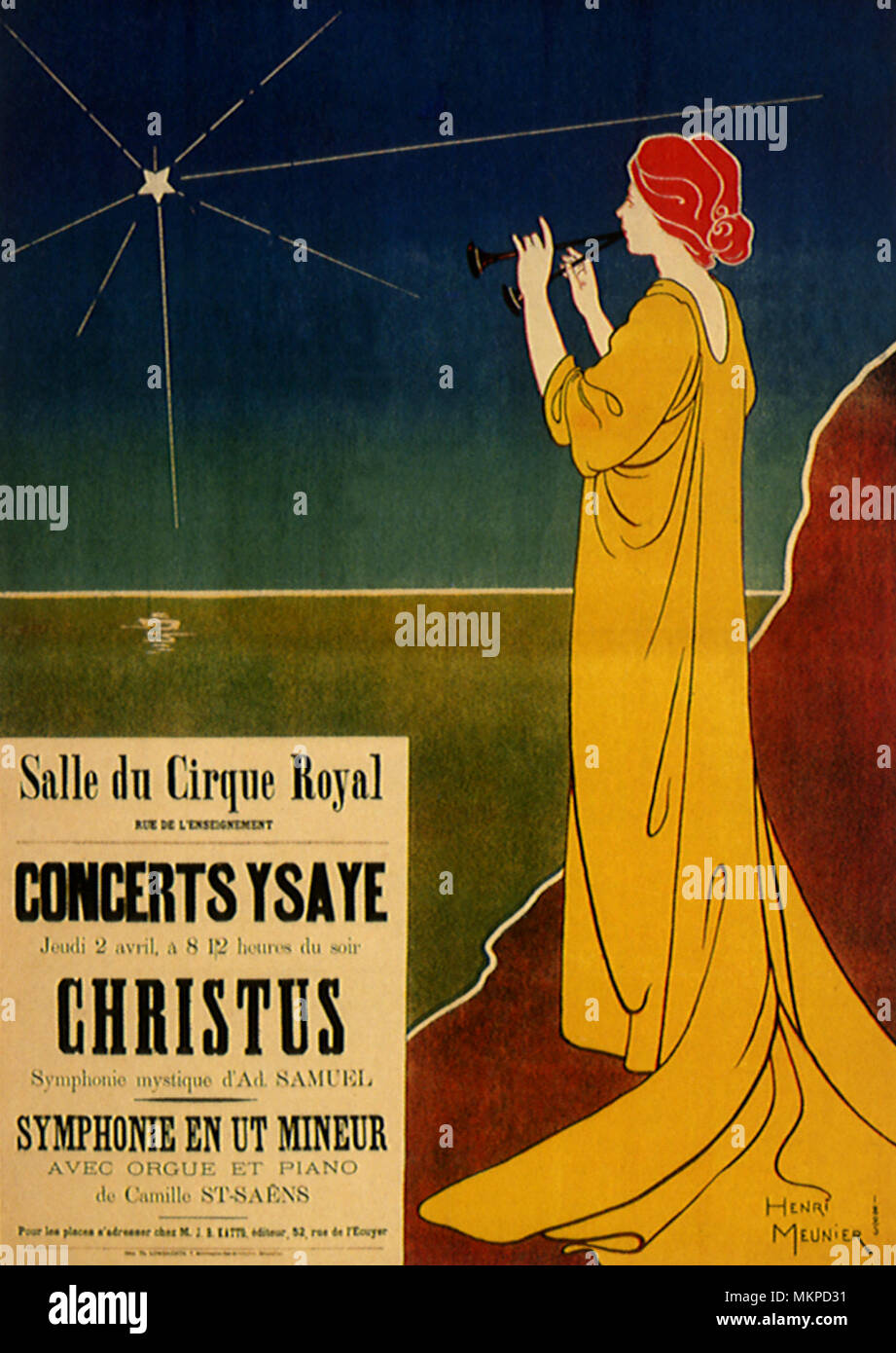 Poster for Concerts Ysaye - Stock Image
