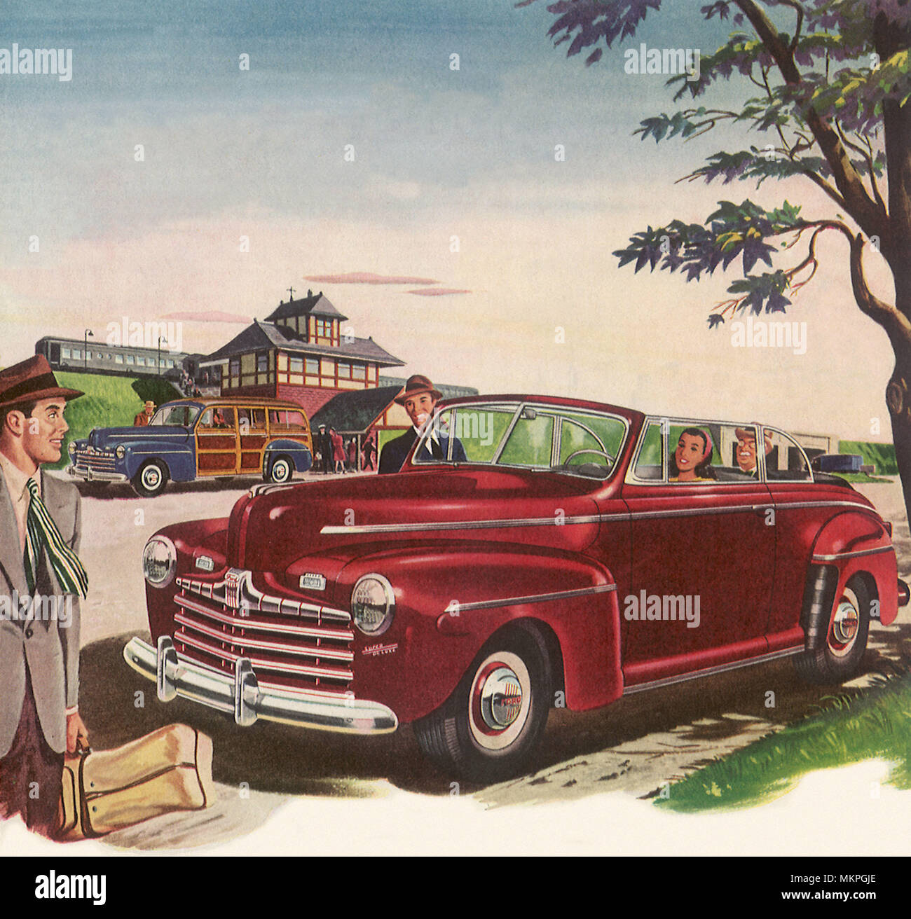 1946 Ford Super Deluxe Convertible Stock Photo Alamy