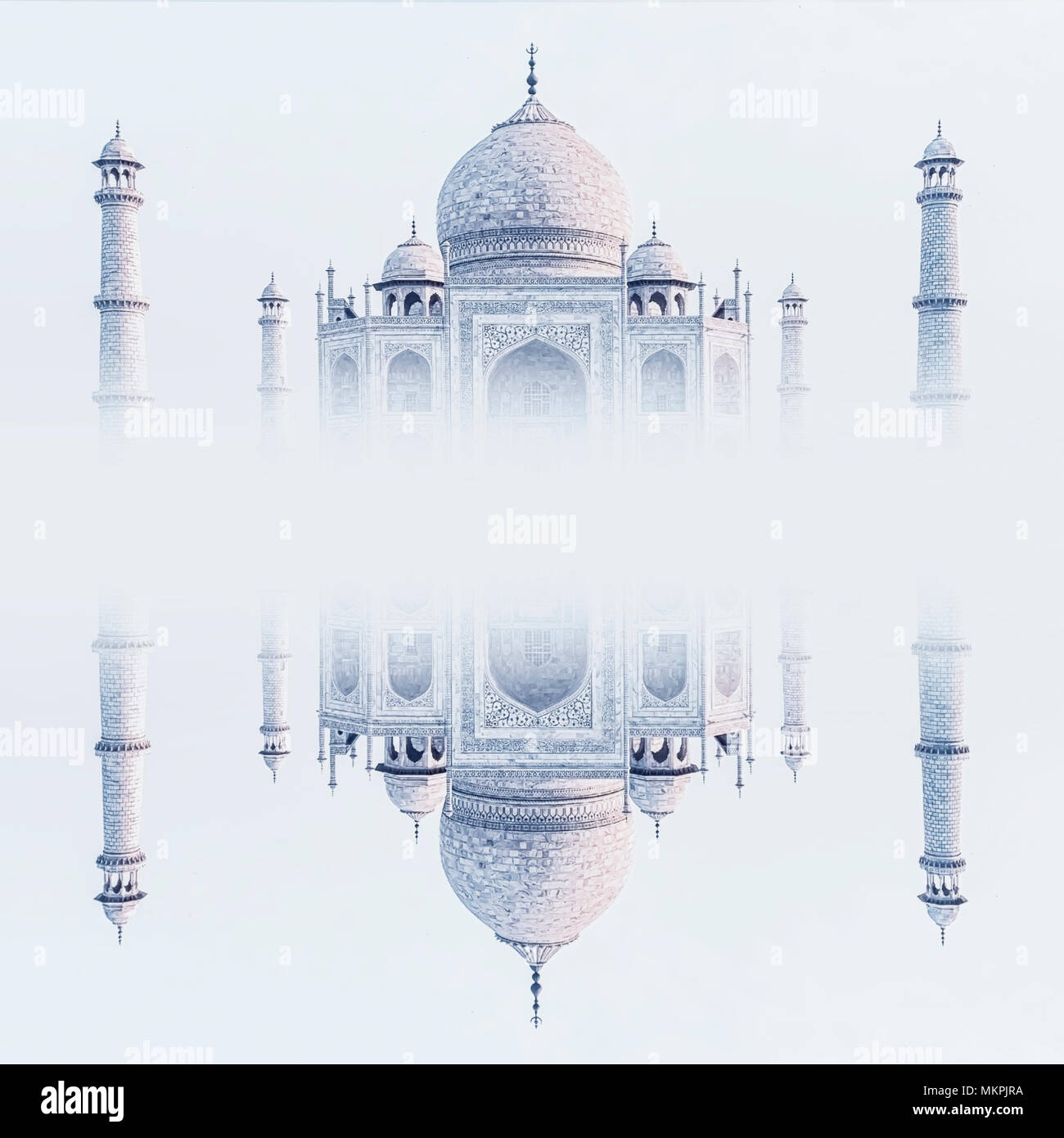 Fantasy Taj Mahal reflection in Agra - Stock Image