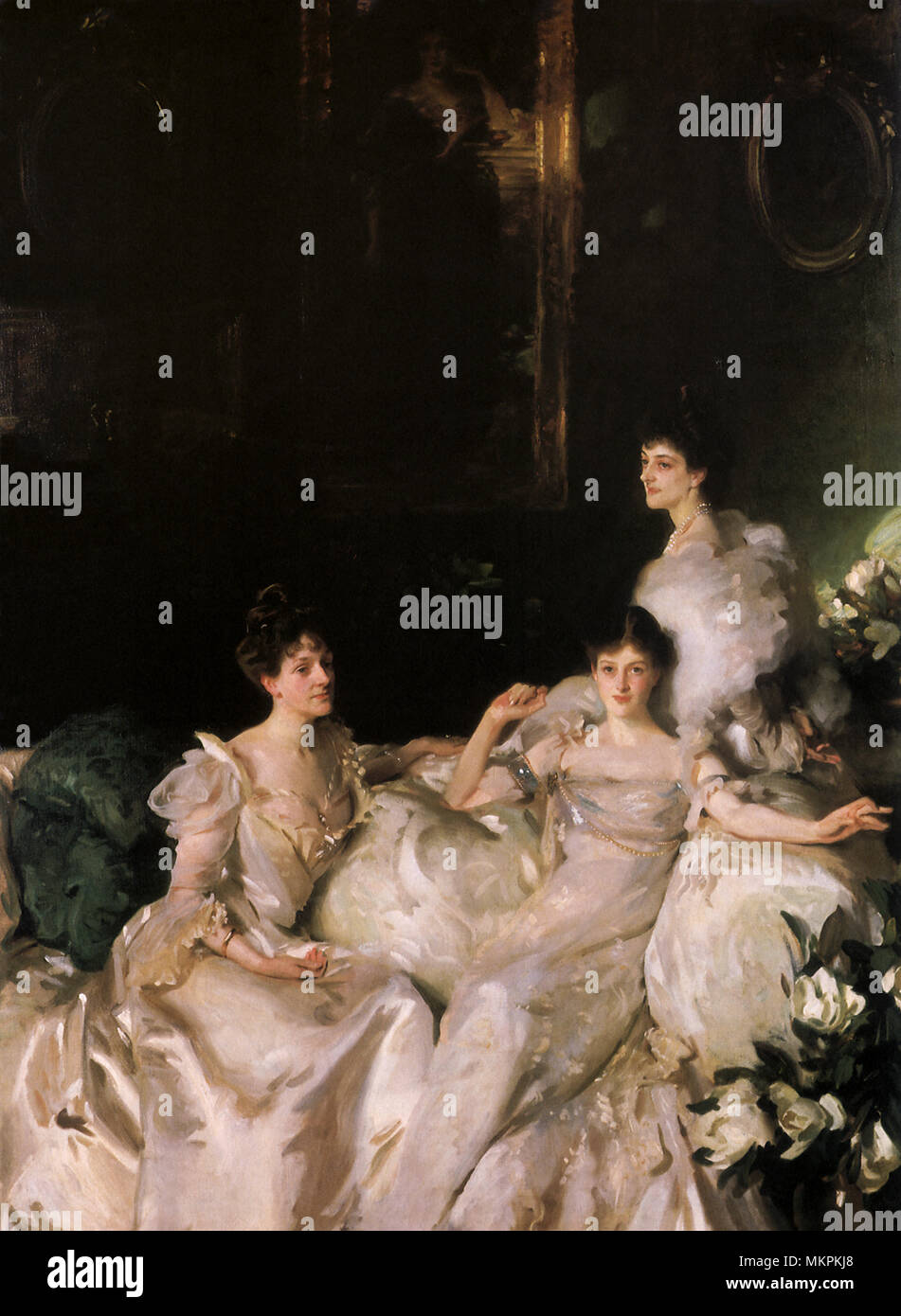 The Wyndham Sisters: Lady Elcho, Mrs. Adeane, & Mrs. Tennant - Stock Image