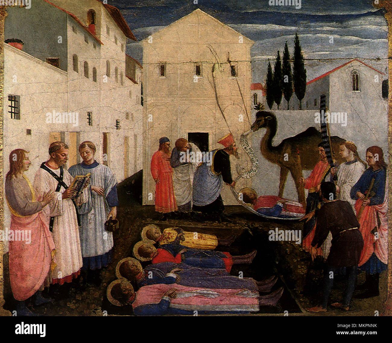 Burial of Saints Cosmas and Damian - Stock Image