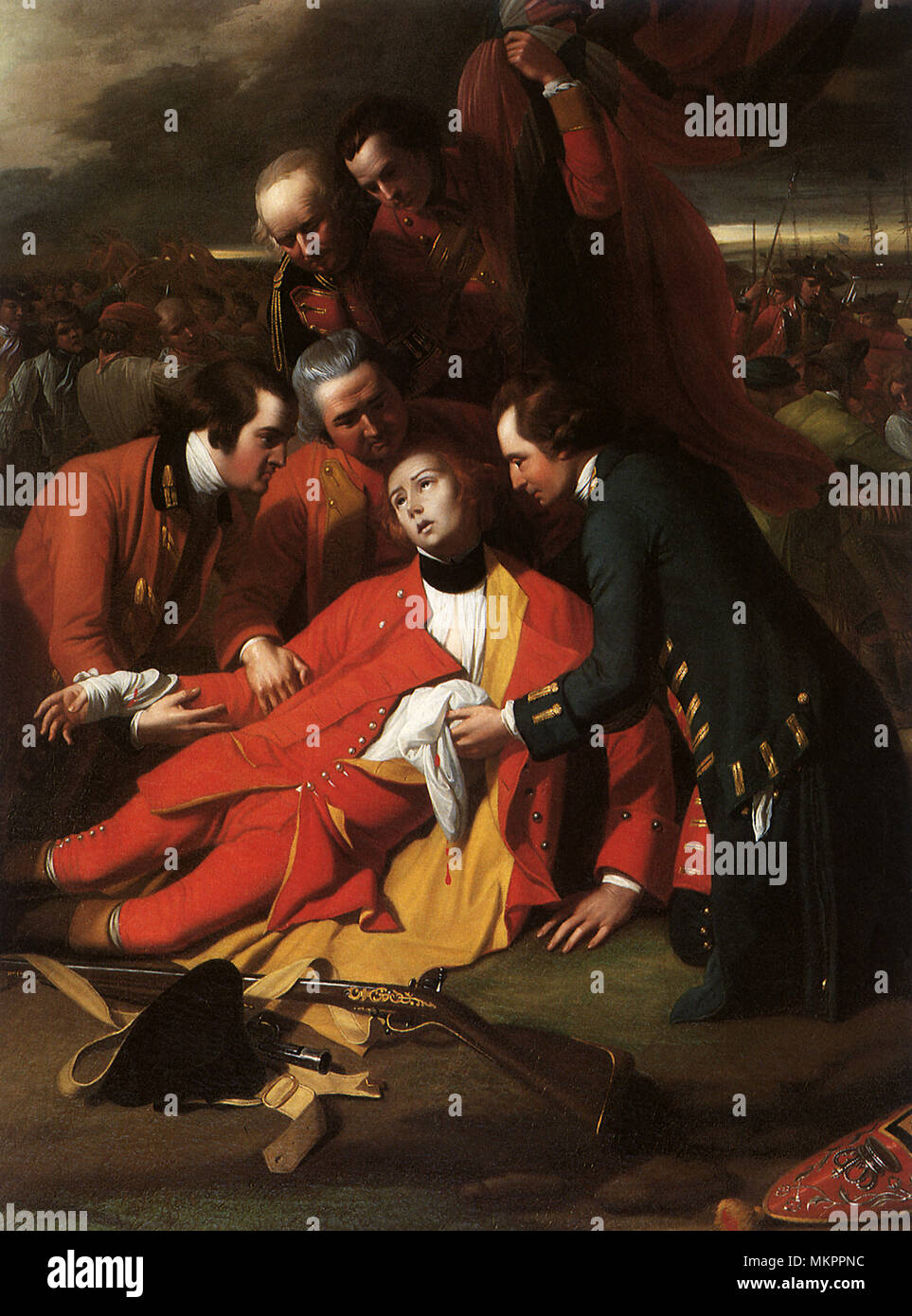 The Death of General Wolfe 1776 - Stock Image