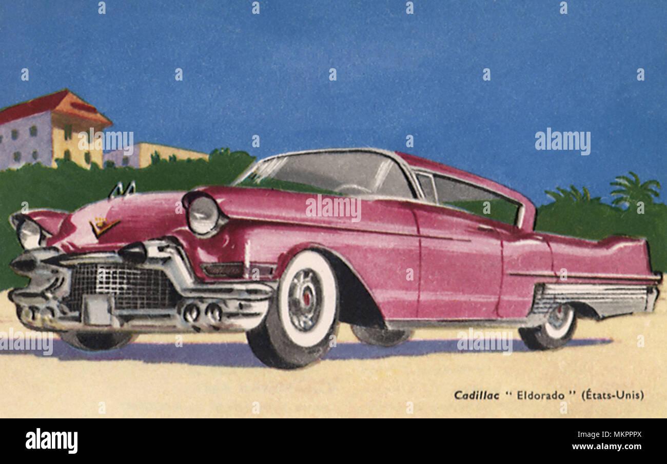 1957 Cadillac Series 62 Coupe 2 Door Hardtop - Stock Image