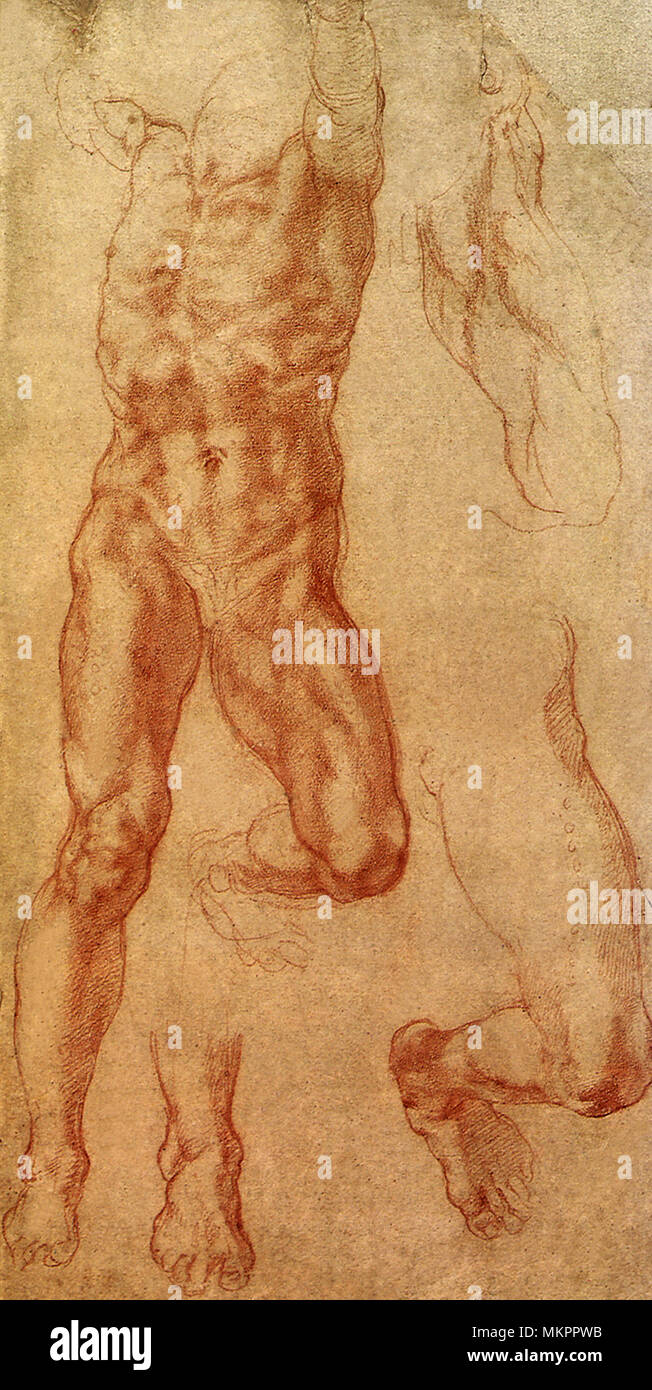 Study for The Death of Haman - Stock Image
