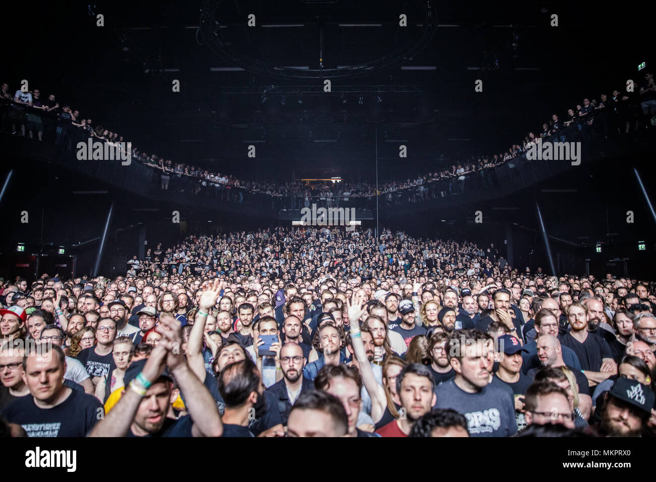 Netherlands, Tilburg - April 19, 2018  The venue is packed with