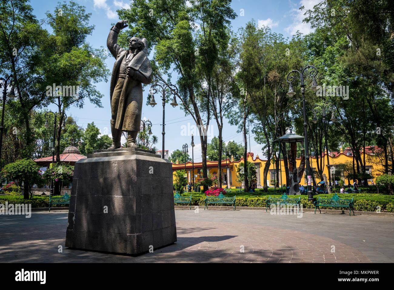 Statue Of Higaldo At Plaza Hidalgo Also Called Hidalgo Garden
