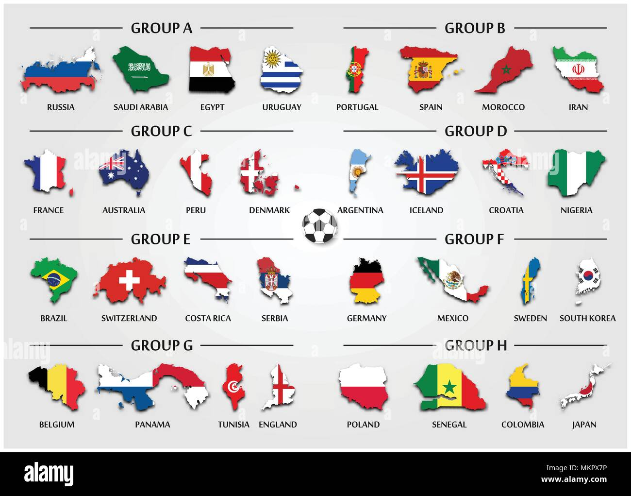 Football or soccer cup team group set country map with national football or soccer cup team group set country map with national flag vector for international world championship tournament 2018 gumiabroncs Image collections