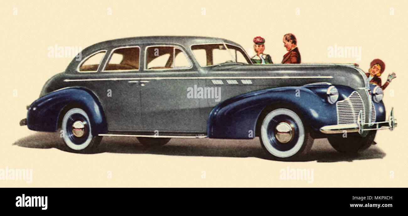 Classic Pontiac Sedan Automobile Stock Photos 1948 Silver Streak Streamliner 1940 De Luxe Touring Image