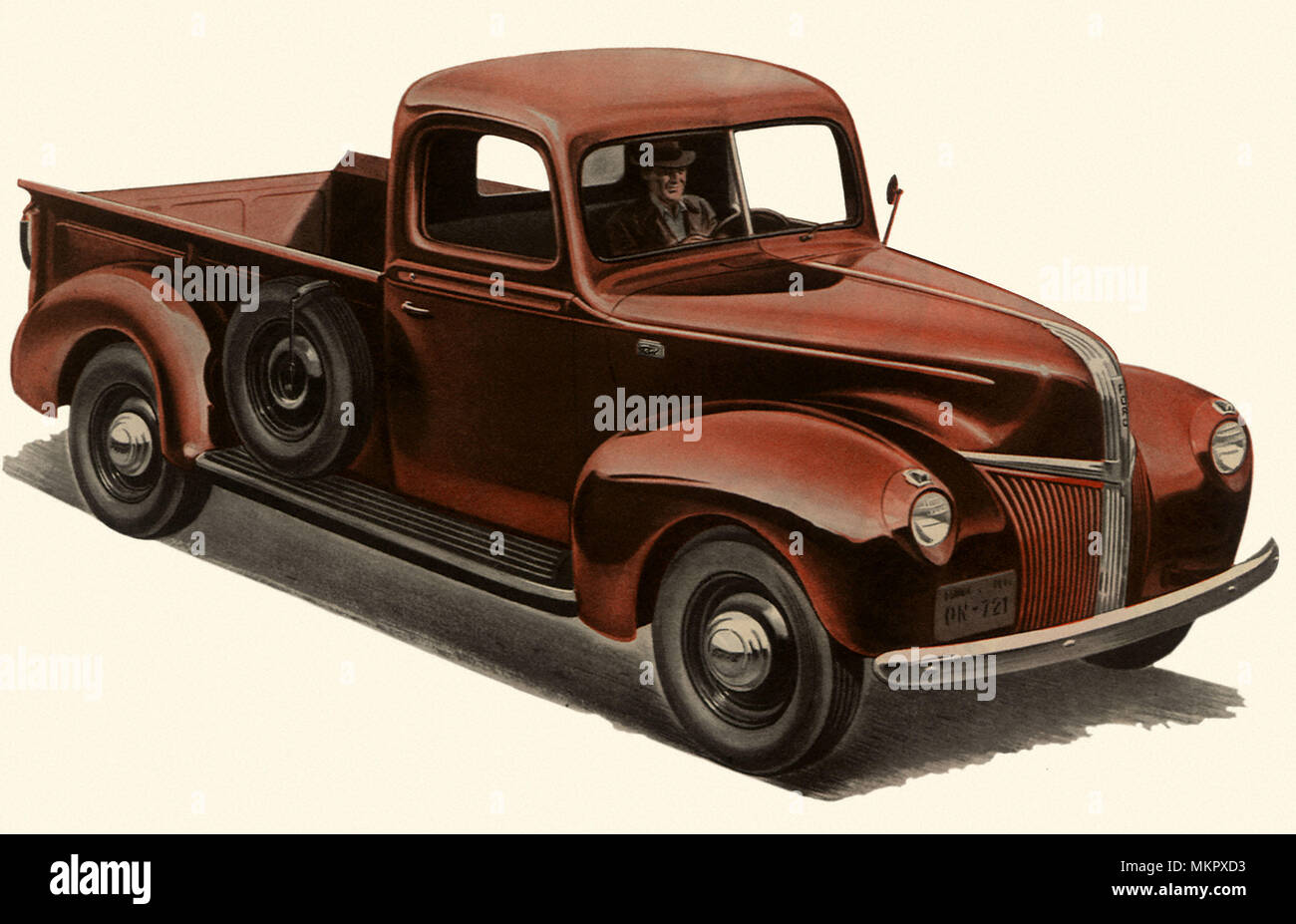 1941 Ford Stock Photos Images Alamy 1 2 Ton Pick Up V 8 Truck Image