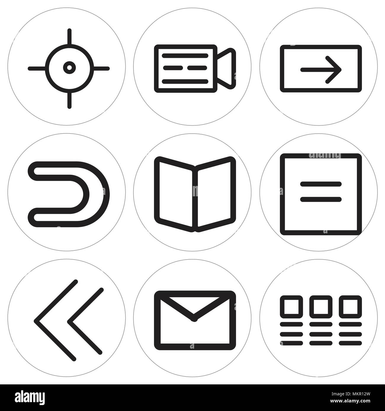 Magnetic Letter Stock Vector Images Alamy