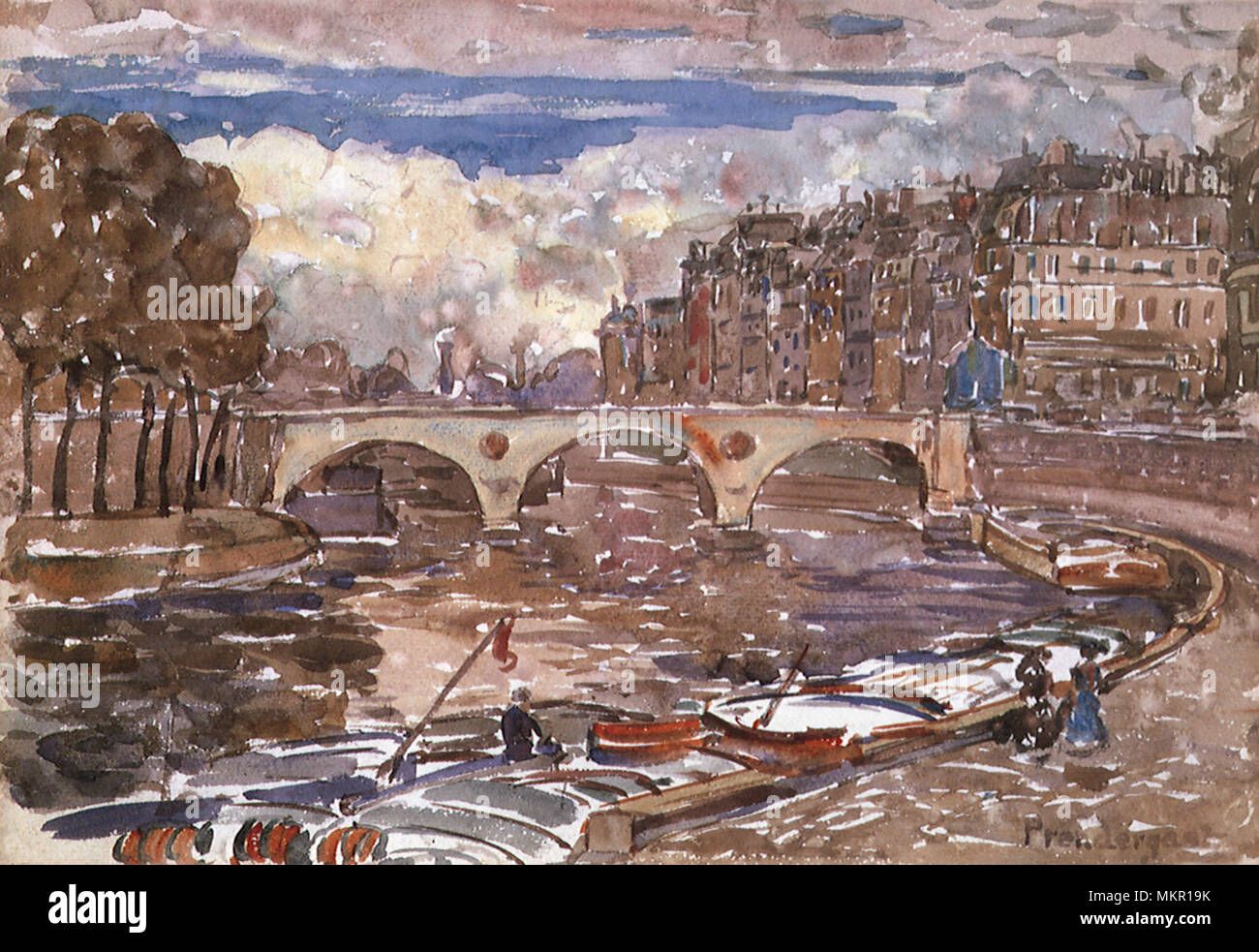 Pont Marie - Stock Image