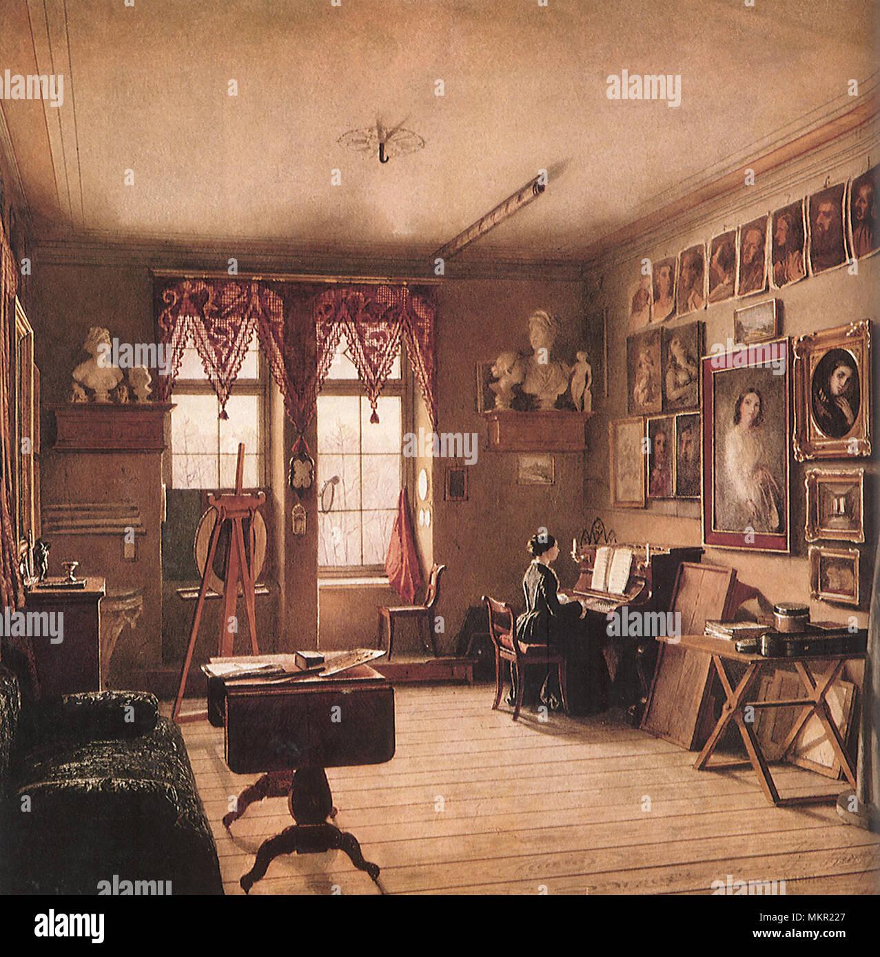 An Artist S Room In Berlin Stock Photo Alamy