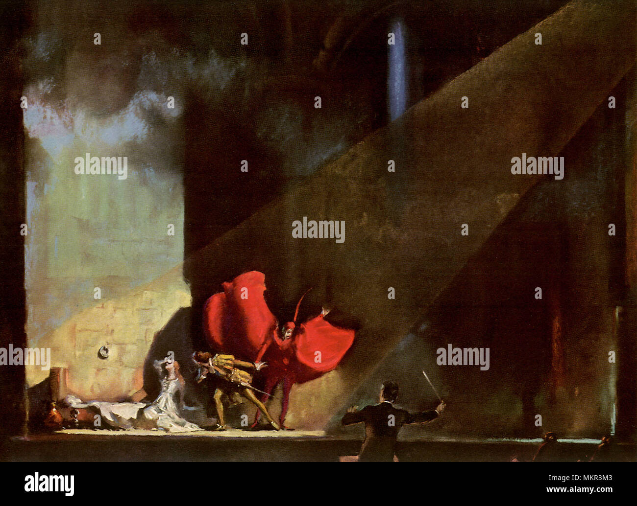 Opera's Dramatic Moment - Stock Image