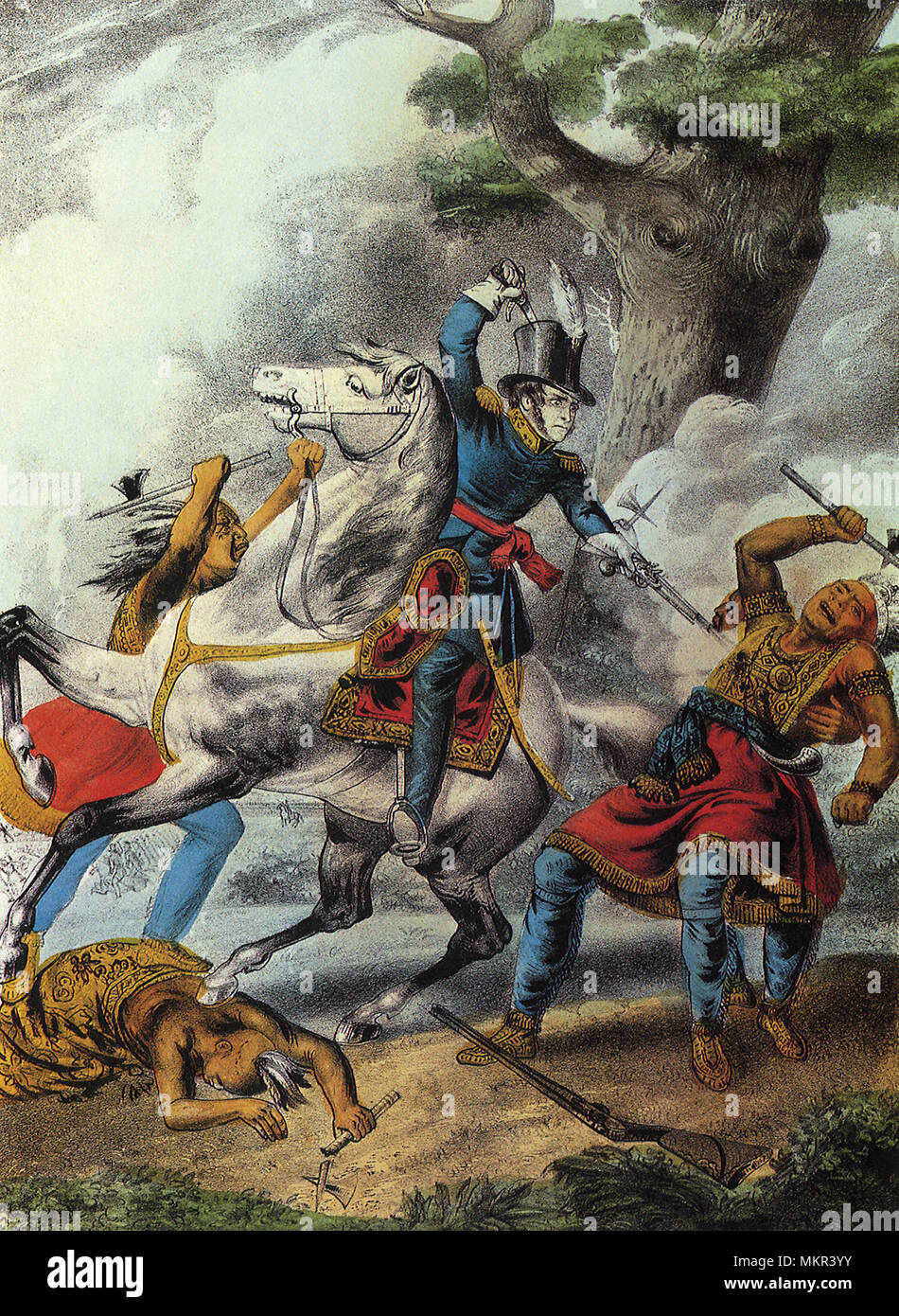 Death of Tecumseh, Battle of the Thames Oct. 18, 1813