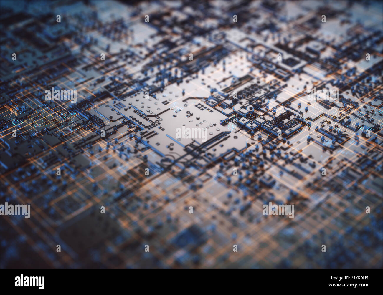 3D illustration. Abstract 3D structure for use as background in technological theme. - Stock Image