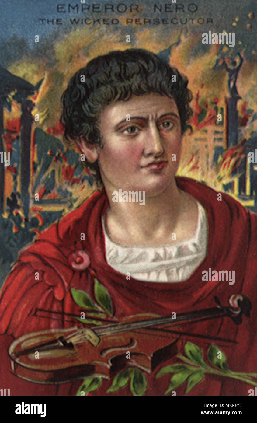 Emperor Nero of Rome - Stock Image