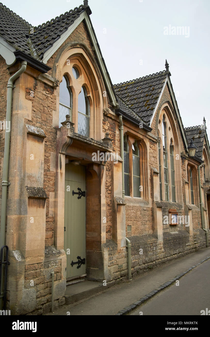Lacock village hall building originally oddfellows hall east street lacock wiltshire england uk - Stock Image