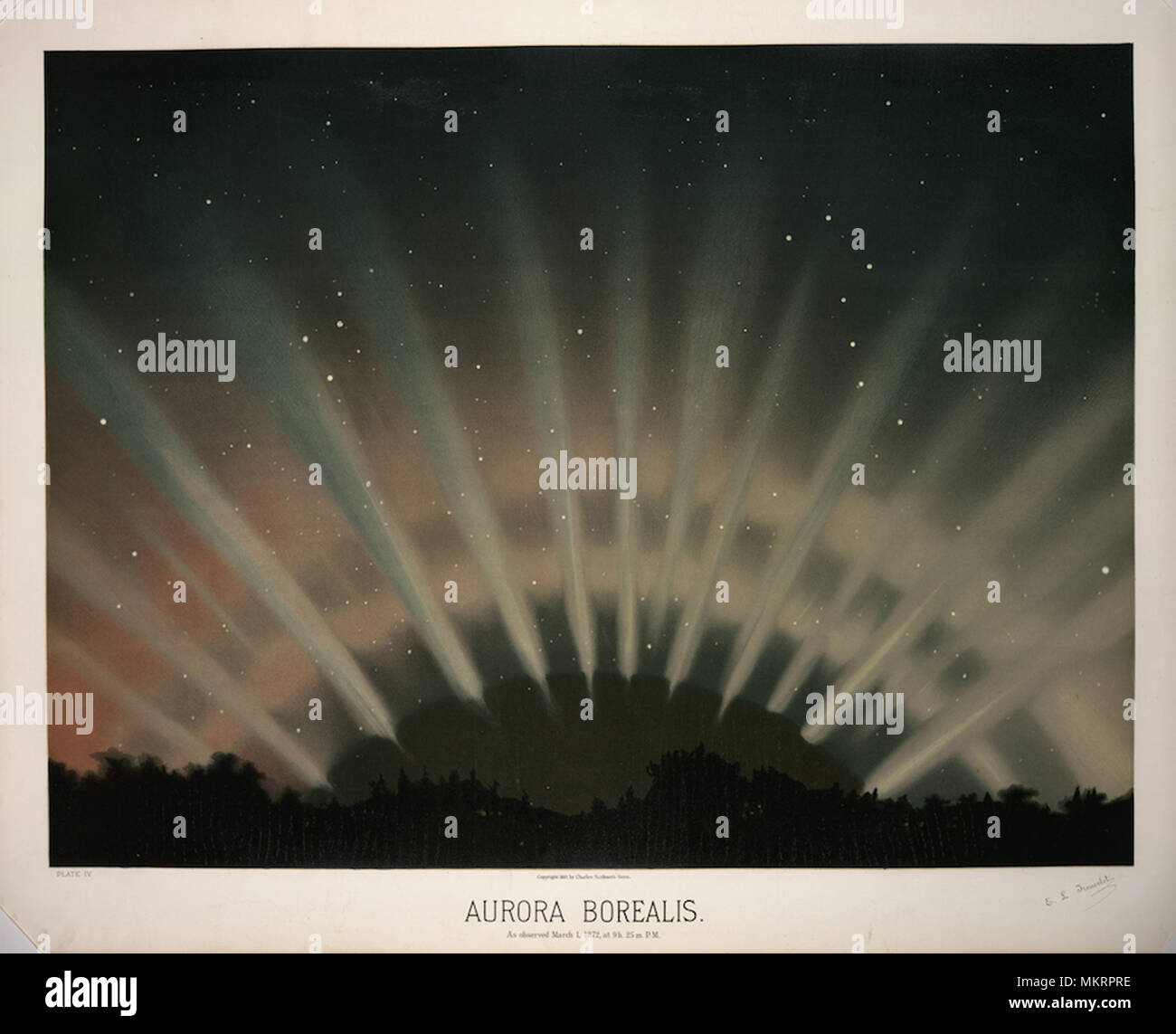 An astrological illustration - Stock Image