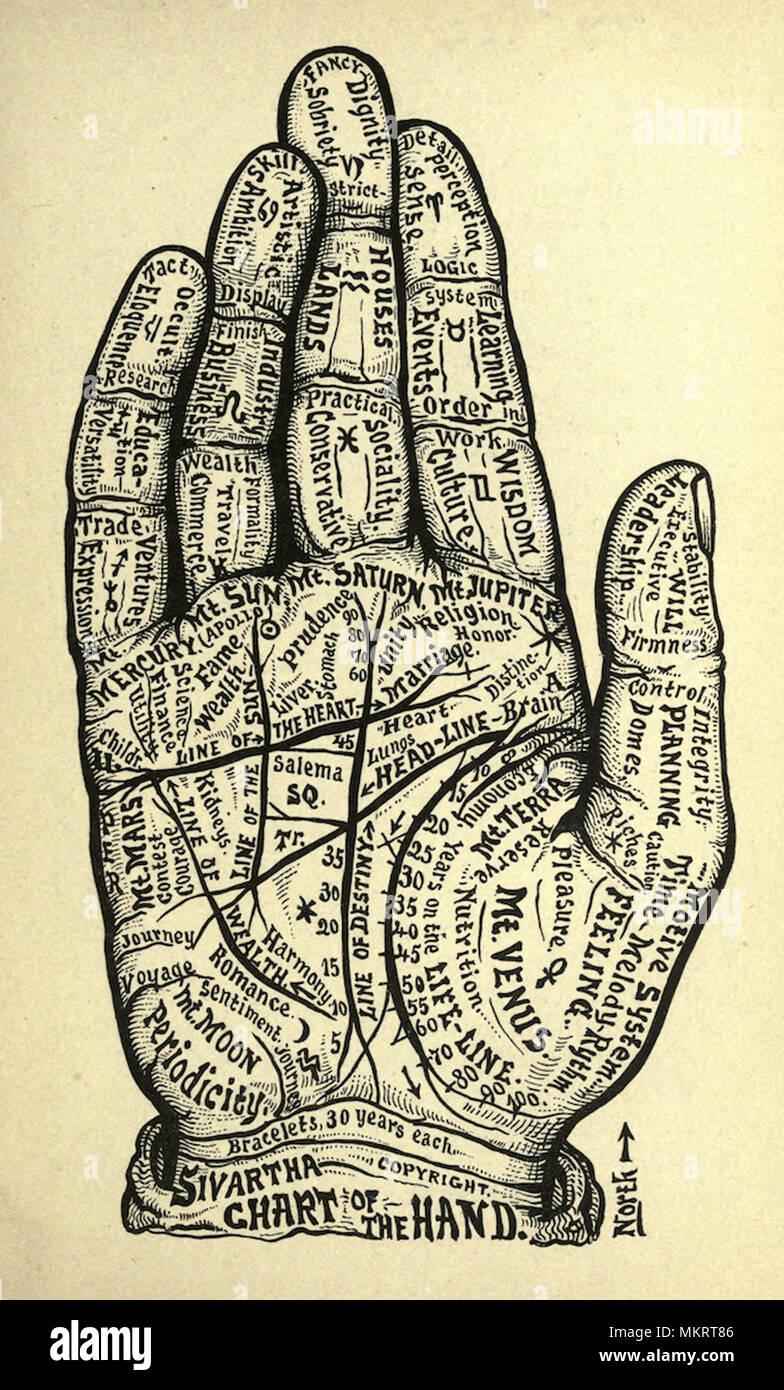 vintage medicinal charts spiritual energy and mysticism - Stock Image