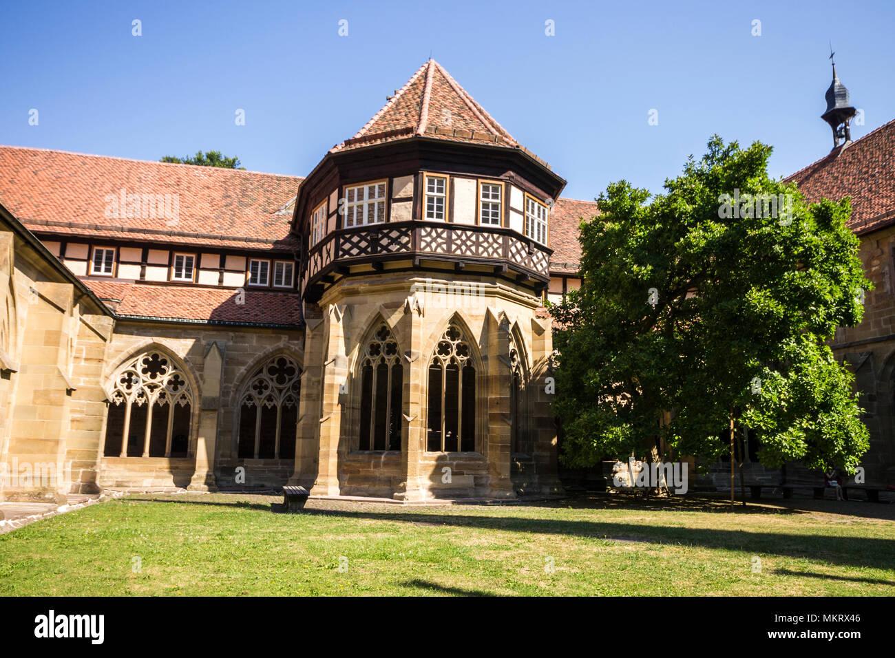 Maulbronn, Germany. Brunnenhaus or well house in the cloister of Maulbronn Monastery (Kloster Maulbronn), a former Roman Catholic Cistercian Abbey Stock Photo