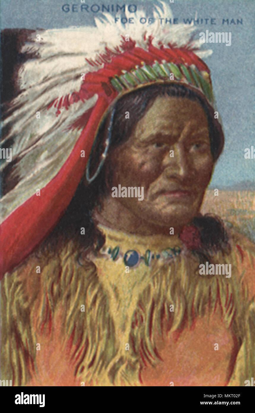 Geronimo Apache Indian Chief Stock Photo