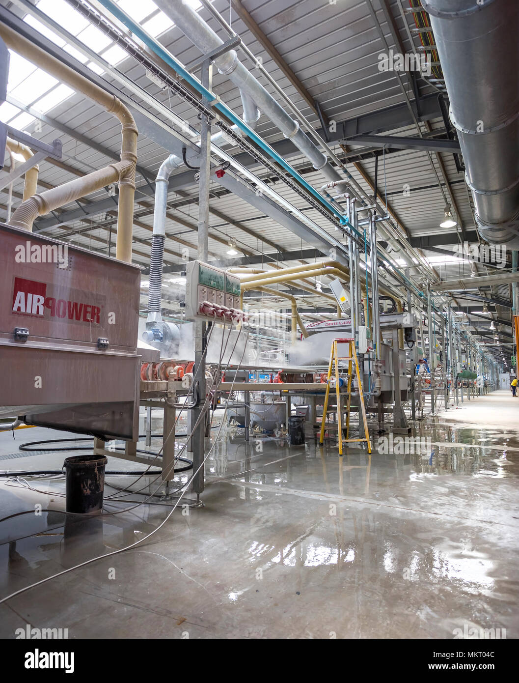 Cape Town, South Africa, June 29 - 2018: Ceramic tile manufacturing ...