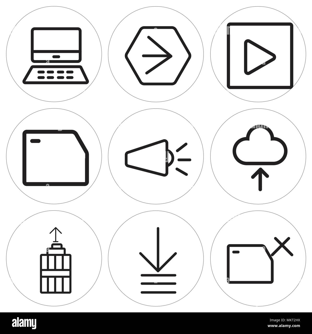 Set Of 9 simple editable icons such as Folder, Order