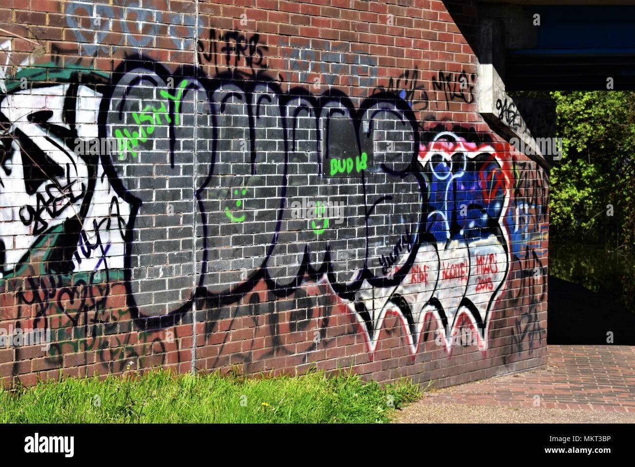 Art or graffiti perception is everything, do we need more or less, creative or destructive. - Stock Image