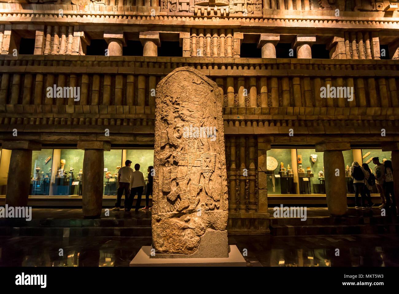 Mayan Room, National Museum of Anthropology, Museo Nacional de Antropología, MNA, Mexico City, Mexico - Stock Image