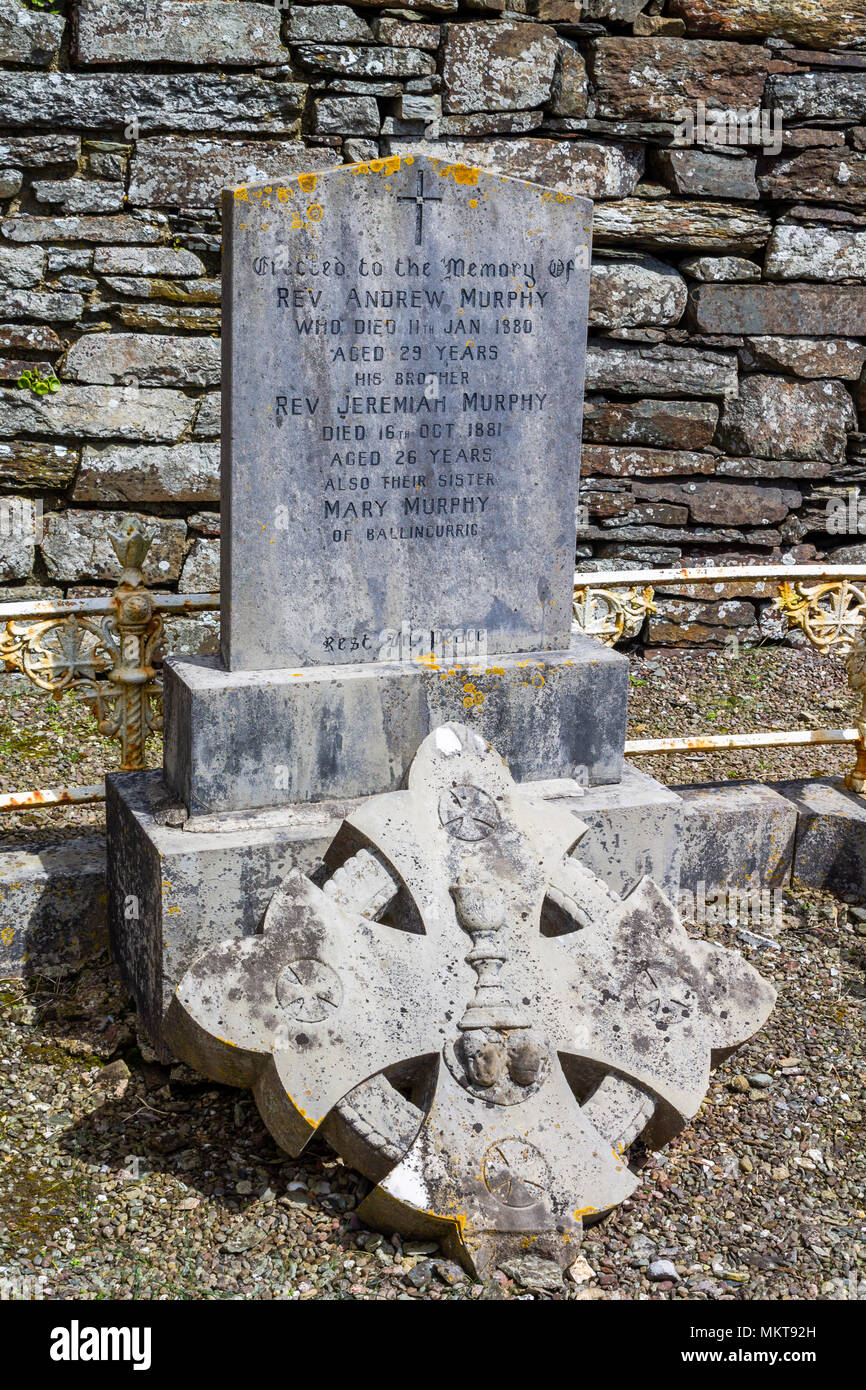 Headstones Marking Old Graves In The Cemetery Or Graveyard Of Timoleague Friary An Ancient Irish Derelict