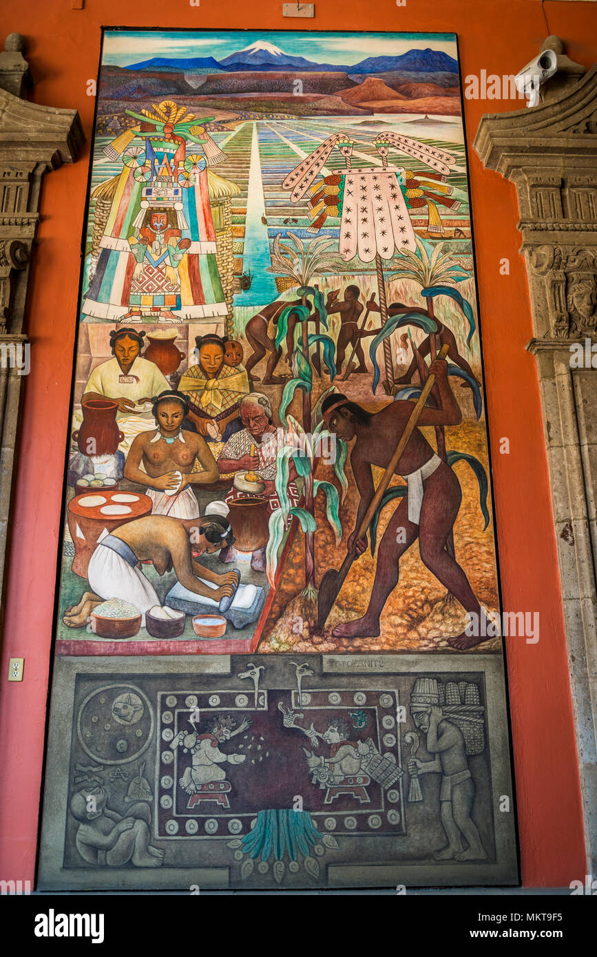 Diego Rivera Mural Maize 1951 National Palace Palacio Nacional