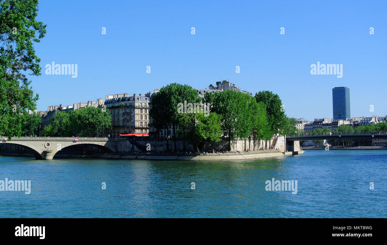 seine river, paris, france - Stock Image