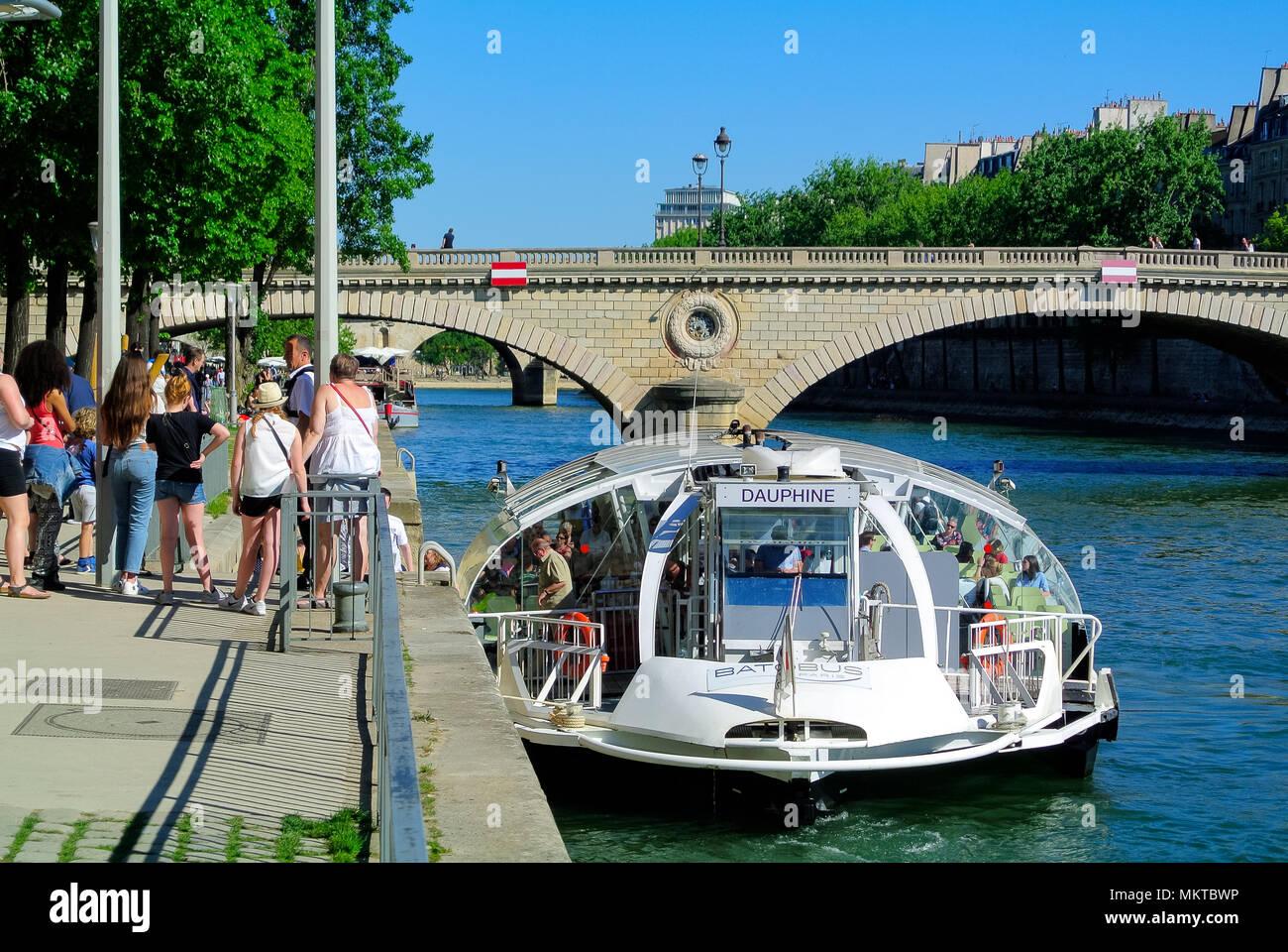 seine river, paris, france - Stock Image
